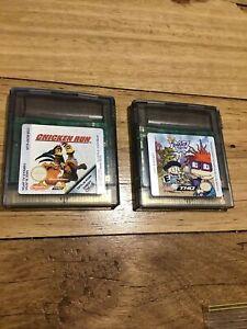1998 Nintendo Gameboy Color RUGRATS IN PARIS THE MOVIE & CHICKEN RUN