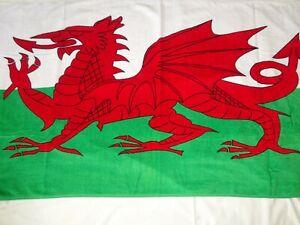 Wales/Welsh Dragon Flag  Beach Towel.   100% Cotton.  NOT Microfibre