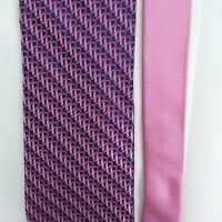 Real Men Wear Pink Neck Tie For Breast Caners 100% Silk by Diane Katzman