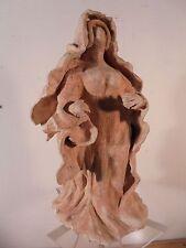 Céramique Vintage 50 Rare Sculpture de Femme Expressionniste Terre Cuite