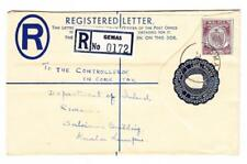 Malaya NEGRI SEMBILAN-REGISTERED POSTAL ENVELOPE-HG:C3-uprated SG#