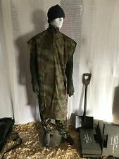 New vintage  German army poncho cape rain poncho water proof military clothing .