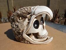 AZTEC Mayan skull ceremony hawk Mexican Folk Art Day of the Dead pottery