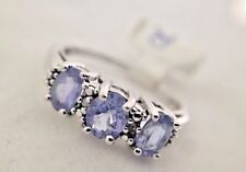 Ladies Tanzanite and Diamond Ring  Size 6.5. White gold 10k
