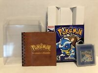 Nintendo Gameboy Pokemon Blue Version With Manual And Box Authentic Game Tested