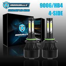 IRONWALLS 4 Sides 9006 HB4 2400W 6500K COB LED Headlight Low Beam Fog Bulbs Kit