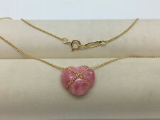 TIFFANY & CO Rosenquarz Herz Collier 18kt Gold Vintage