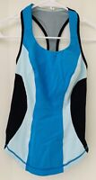 Lululemon Women's Cardio Kick Sz 2 Racerback Tank Athletic Blue Black colorblock