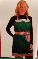 Elf Christmas Holiday Bib Apron with Pocket  - Adult
