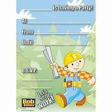 Bob the Builder Construction Worker Kids Birthday Party Fill-In Invitations