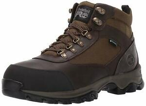 Timberland Men's Shoes Hiker Boot Leather Steel toe Lace Up, Brown, Size 10.5 mY