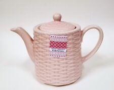 Nuovo Cmg Rosa Intrecciato Fatto a Mano Porcellana Grande Tè + Caffettiera