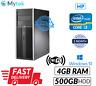 Cheap Computer PC HP Elite Tower 8200 Core i3@3.10GHz Dvd 4GB 500GB Win 10 WiFi