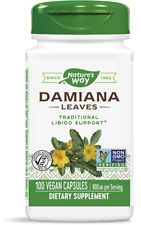 Nature's Way Damiana Leaves 400mg 100 Veg Caps Virility Libido Sexual Health