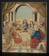 "A Good Quality C19th Berlin Woolwork. The Last Supper. 26"" x 22 1/2"""