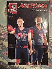 2013 Arizona Wildcats College Football Gameday Program Arizona-Utah
