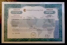 Rare-Global Crossing Stock Certificate-Hard To Find! Nice Condition!