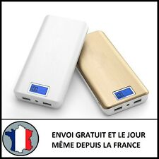 CHARGEUR EXTERNE 2 USB LCD 100000MAH 1A 2,1A BATTERIE TABLETTE POWERBANK CHARGE