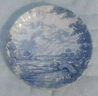 VTG BLUE Brook Saucer Plate Staffordshire England Transferware Ironstone.