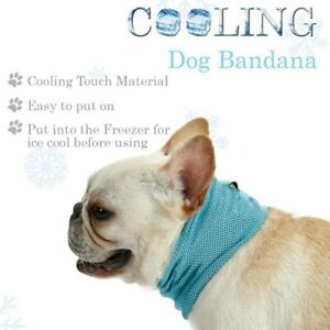 Cooling Dog Bandana Easy to Use Reusable Light, Breathable, Hypoallergenic S,M,L