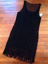 Gorgeous NWT Ralph Lauren Women's Dress Size XS TP Black Crocheted