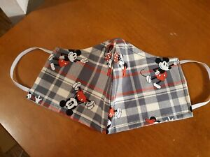 """Handmade """"Valentine's Mickey & Minnie Mouse"""" Cotton Fabric  Face Mask Adult"""