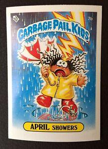 April Showers 7b UK Garbage Pail Kids Series 1(1985)Topps~NMT/MINT~Pack Fresh