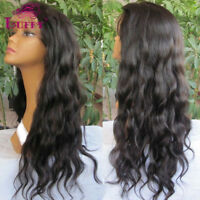 Natural Wave Full Lace Wigs Front Glueless Brazilian Virgin Black Human Hair Wig