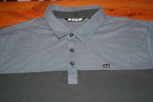 Travis Mathew Polo Shirt Men's XL Charcoal Short Sleeve Golf