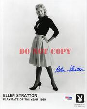 Ellen Stratton SIGNED 8x10 AUTOGRAPHED Photo PMOY 1960 Playboy Playmate Reprint