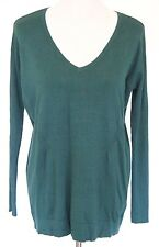 Women's BLACK HOUSE WHITE MARKET Green Long Sleeve V-neck Sweater Sz S