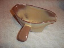 "Frankoma  Gravy Boat Pottery Brown 8"" Wide"