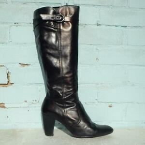 Jones the Bootmaker Leather Boots Size UK 8 Eur 41 Womens Toddy Dark Brown Boots