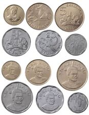 SWAZILAND COMPLETE COIN SET 10+20+50 Cents +1+2+5 Emalangeni 2015 UNC LOT of 6