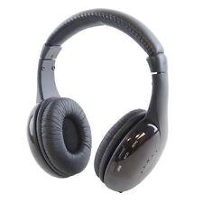 Lloytron 5-In-1 BLACK Wireless RF Headphone Use With TV DVD Radio MP3 players PC