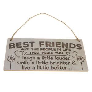 Wooden Plaque Keepsake Wall Decor Novelty Gift Sign-Best Friends