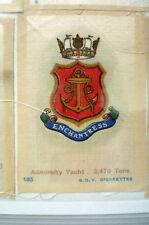 B.D.V. Cigarettes Silk - HMS ENCHANTRESS Admiralty Yacht 3,470 Tons