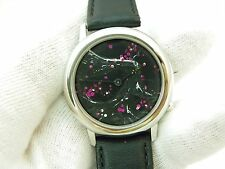 "HAND PAINTED 3D DIAL ""Animated Cherri Blossoms"",Series 2, #2,MEN'S WATCH 1933"