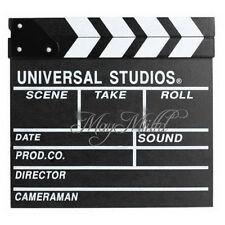 Professional  MOVIE  DIRECTOR CLAP BOARD Film Slate Cut Prop Clapper Clapboard S