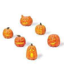 "Department 56 ~ Snow Village Halloween ""Lit Jack-O-Lanterns"" ~ Set Of 6"