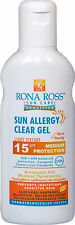 Rona Ross  Sun Allergy Clear Gel SPF15 160ml. EXPRESS P&P