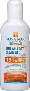 Rona Ross  Sun Allergy Clear Gel SPF15 160ml. EXPRESS P&P