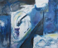 Peinture originale acrylique toile tableau Voile et musique abstrait signé