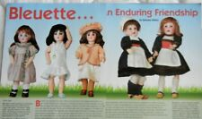 23p History Article + Paper Doll -  Antique French Bleuette Dolls & Costumes