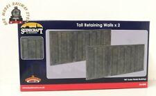 Bachmann 44-590 Scenecraft Tall Retaining Walls X2