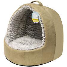 ME & MY SUPER SOFT PLUSH IGLOO CAT BED PET KITTEN/DOG/PUPPY WARM/SNUG CAVE POD