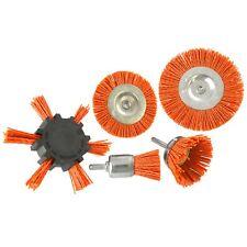 5pc Nylon Abrasive Filament Brush Drill Spindle 6mm Shank De Burring Rust TE87
