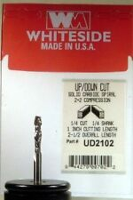 """Whiteside UD2102 1/4"""" Compression Spiral Router Bit 1"""" Cut Length Double Flute"""