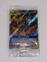Pokemon Hidden Fates SM210 Moltres,Zapdos,Articuno GX Stained Glass Promo Sealed