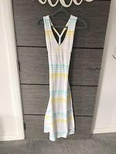 Billabong White Stripped Maxi Dress Size 2 Womens